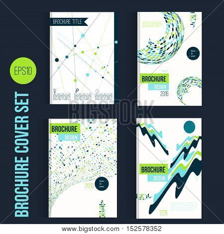 Green Brochure mega set template layouts, cover design, annual report, magazine, flyer, leaflet in A4 with shapes for business and construction