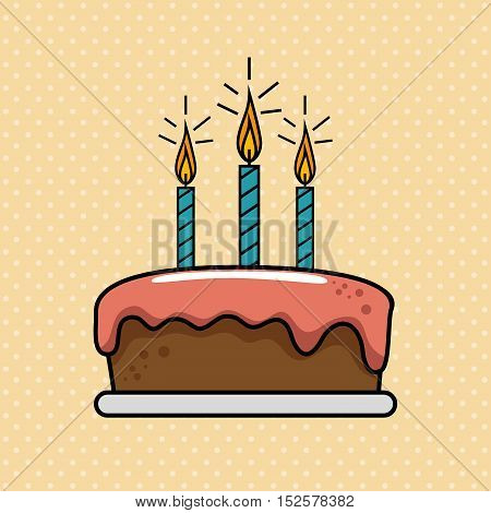 birthday celebration cake sweet vector illustration design