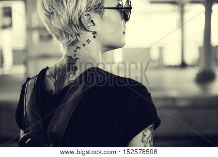 Tattoo Woman Style Glamour Alternative Lifestyle Concept