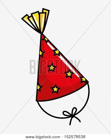 birthday celebration hat party vector illustration design