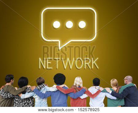 Team Teamwork Support Friendship Huddle Concept