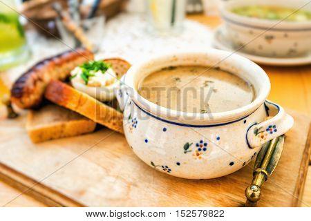 Zur zurek - component of a traditional Polish soup Sourdough