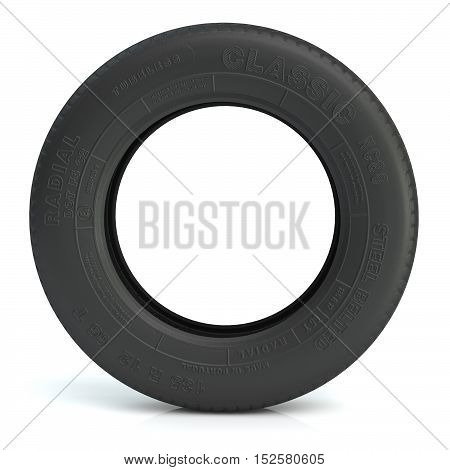 a lot of tire on the white. 3d