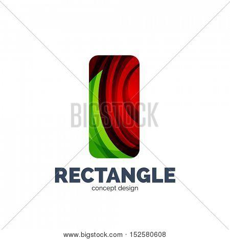 Vector rectangle logo, abstract template