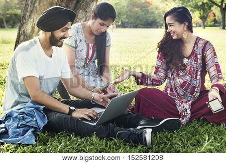 Indian Community Togetherness Technology Concept