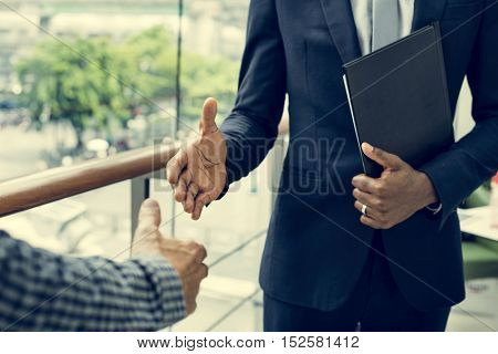 Business Discussion Talking Deal Concept