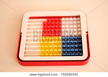 mathematics education for students made colorful abacus