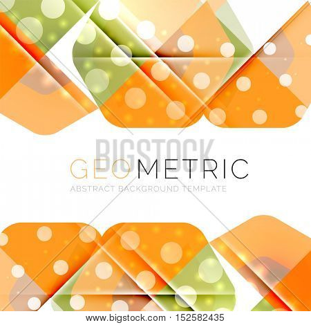 Geometrical minimal abstract background with light effects.