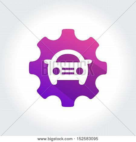 Gears with Automotive Repair symbol. Technology Business illustration