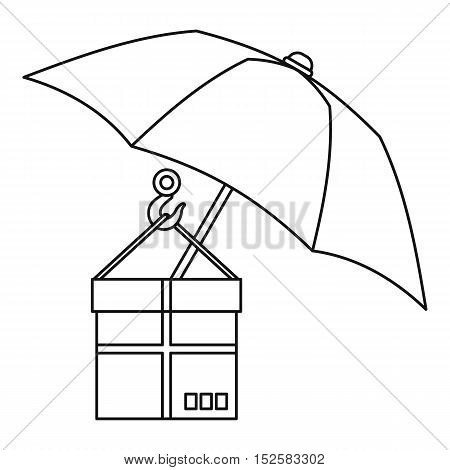 Parcel Insurance icon. Outline illustration of parcel Insurance vector icon for web