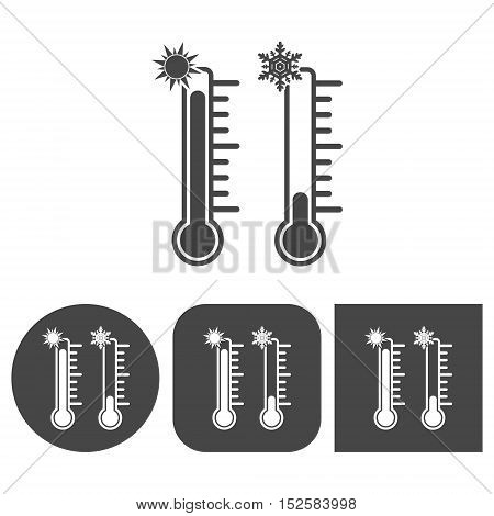 Thermometer - vector icon on white background