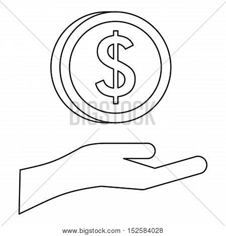 Savings protection icon. Outline illustration of savings protection vector icon for web