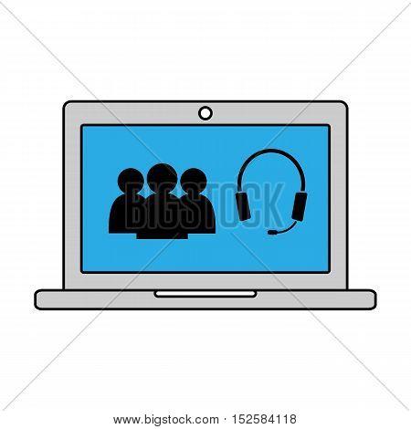 Online conversation internet communication. Vector illustration icon