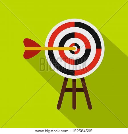 Target icon. Flat illustration of target vector icon for web isolated on lime background