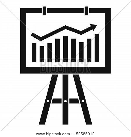 Flipchart with marketing data icon. Simple illustration of flipchart with marketing data vector icon for web