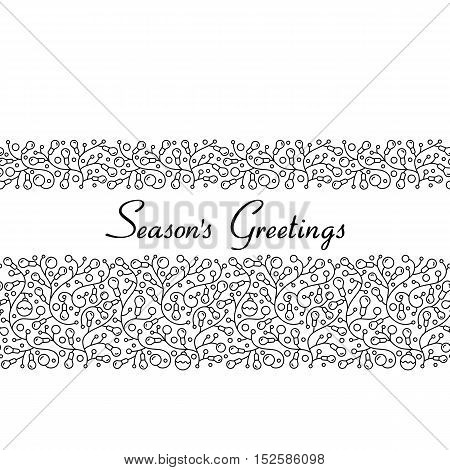 Christmas abstract light bulb garland seamless pattern for your design