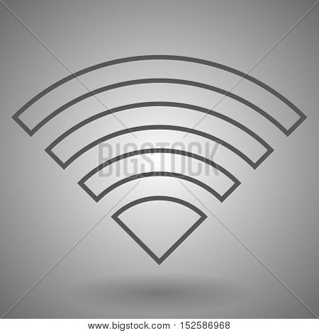 Wifi icon. Wireless wi-fi network sign. Internet symbol. Linear outline icon. Vector.