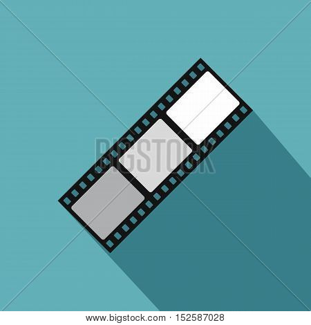 Film strip icon. Flat illustration of film strip vector icon for web isolated on light blue background