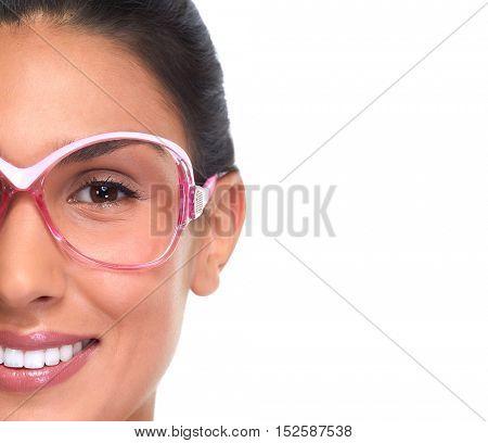 Women eyeglasses.