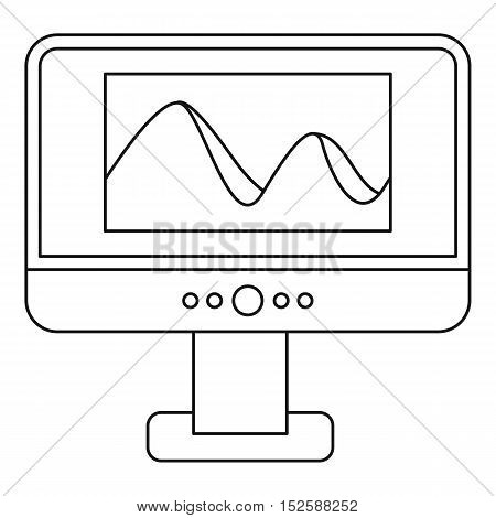 Photo on computer monitor icon. Outline illustration of photo on computer monitor vector icon for web