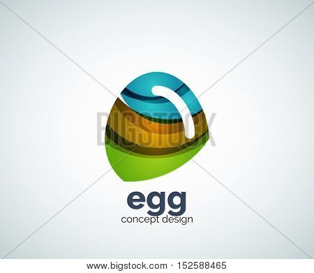 egg logo template, abstract business icon