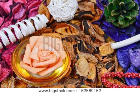 colorful,various scents of potpourri and decor items
