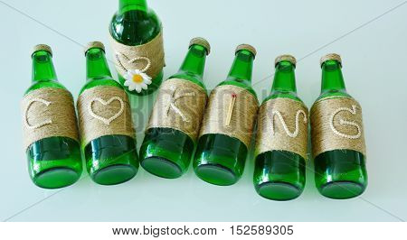 ''Cooking'' Craft Ideas Using Waste Glass Bottles.