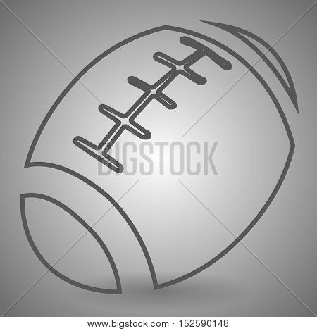 Football icon in thin outline style. Sport American college team