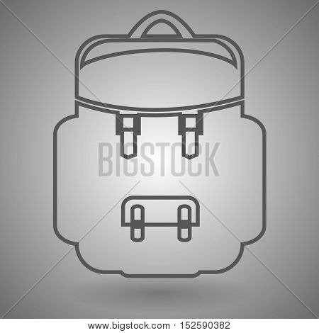 backpack line icon outline vector logo illustration linear pictogram isolated.
