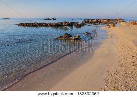 Elafonisi one of the most famous beaches in the world Crete Greece