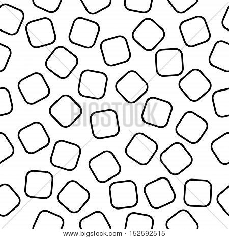 Black seamless squares pattern for a background
