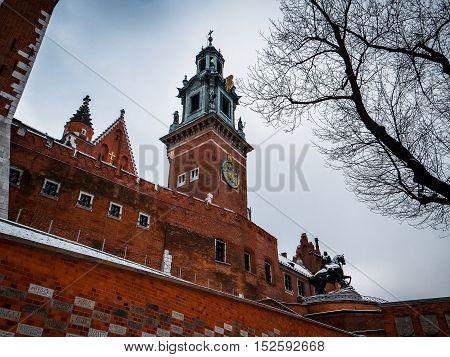 Famous Wawel Royal Castle in Krakow - Poland