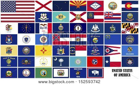Flags of the United States in alphabetical order