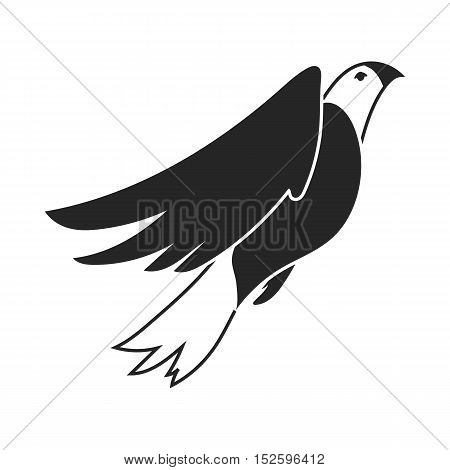American eagle icon in black style isolated on white background. Patriot day symbol vector illustration.