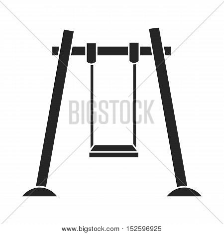 Swing icon in black style isolated on white background. Play garden symbol vector illustration.