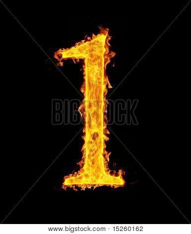 1 (one), fire figure