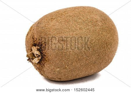 One kiwi fruit isolated on white background