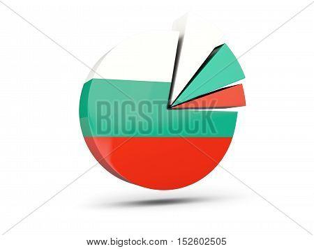 Flag Of Bulgaria, Round Diagram Icon