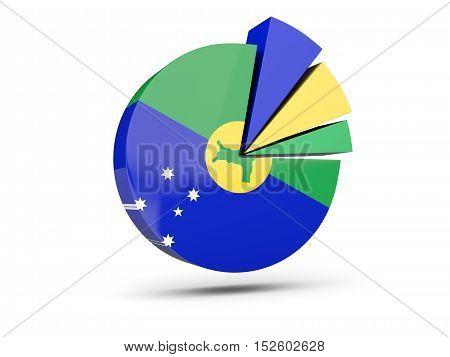 Flag Of Christmas Island, Round Diagram Icon