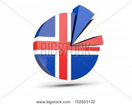 Flag Of Iceland, Round Diagram Icon