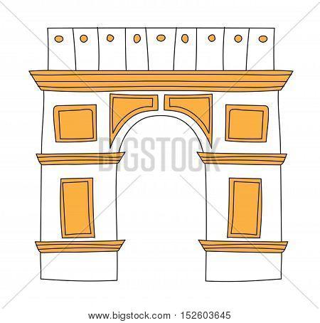 Arc de Triomphe Paris France architecture europe travel monument vector.