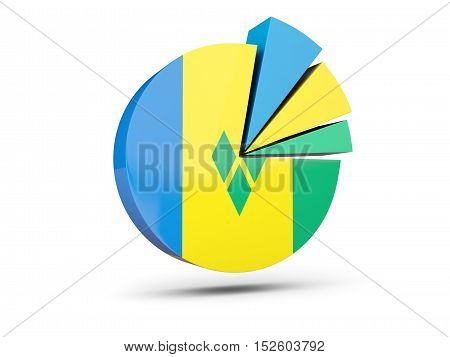 Flag Of Saint Vincent And The Grenadines, Round Diagram Icon