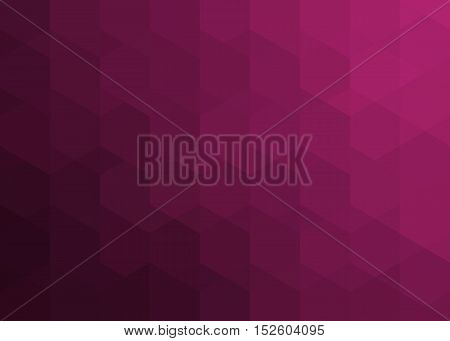 maroon pattern of hexagons and triangles with shadow and reflex