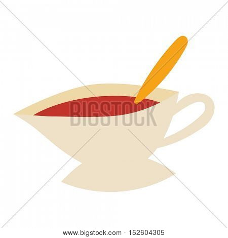 Cup of fresh hot tea
