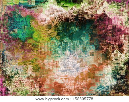 Abstract color background with polygonal geometric shapes.Digitally generated image.