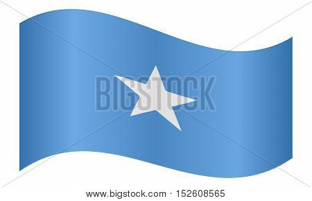 Somali national official flag. African patriotic symbol banner element background. Correct colors. Flag of Somalia waving on white background vector illustration
