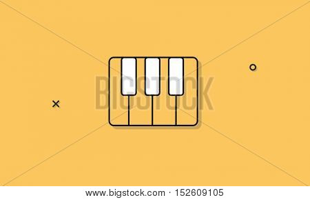 Piano Instrument Music Icon Concept