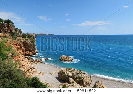 Cliffs at the East Side of Konyaalti Beach, Antalya