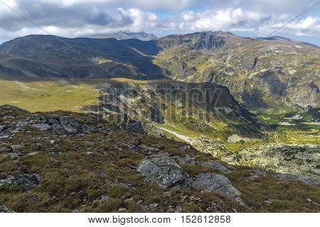 Amazing panorama from Malyovitsa peak, Rila Mountain, Bulgaria