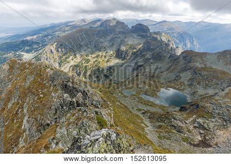 Amazing Panorama from Malyovitsa peak to Elenski lakes, Rila Mountain, Bulgaria
